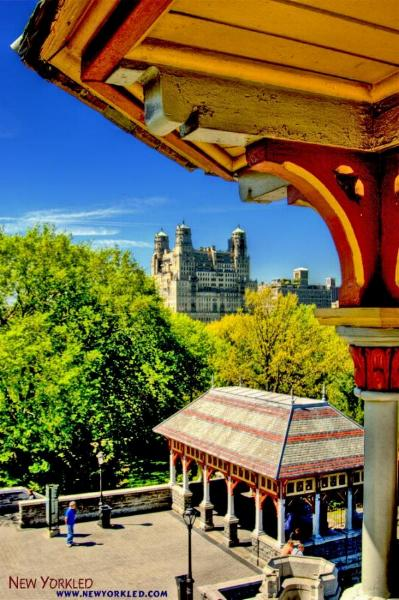 This HDR photo was taken from the highest point of Belvedere Castle within Central Park.
