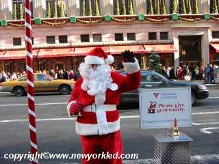 Santa Claus on Fifth Avenue.
