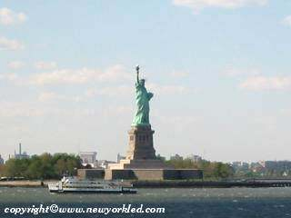 The majestic Statue of Liberty
