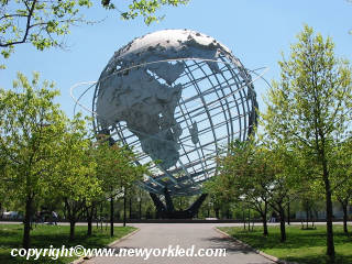 One of a number of photos of the Unisphere at Flushing Meadows Park.