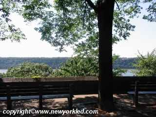 Fort Tryon is perhaps the highest natural point in Manhattan.