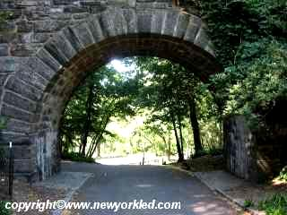One of a number of underpasses within Fort Tryon Park