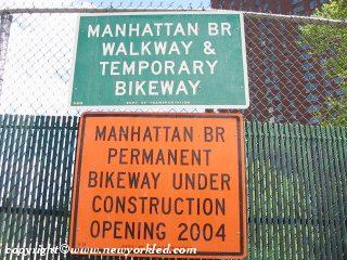 Manhattan Bridge Signs Photo