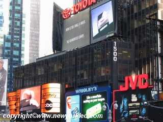 The lit billboards and signs at Times Square never seem diminish.