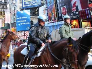 Police officers at Times Square