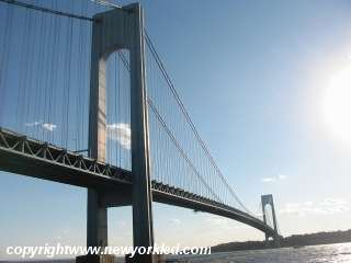 Photo above was taken from Shore Promenade which stretches south and north of the Verrazano Bridge.