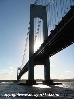 Photo taken from south of the Verrazano Bridge.