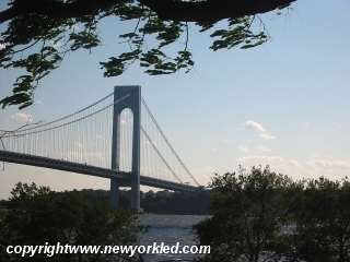 Photo of Verrazano Bridge facing Staten Island.