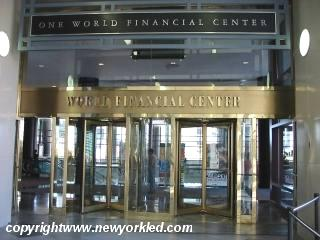 Entrance to the World Financial Center.