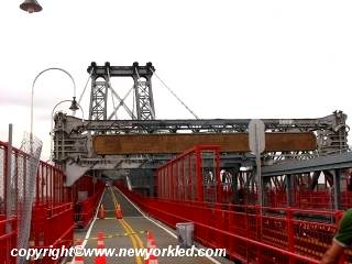 Photo of the Williamsburg Bridge as we make our entry.
