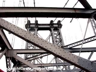 Pic of the bridge's girders and tower.