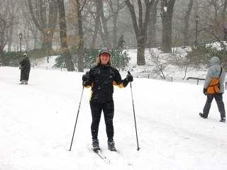 Say hello to this skier inside of Central Park.