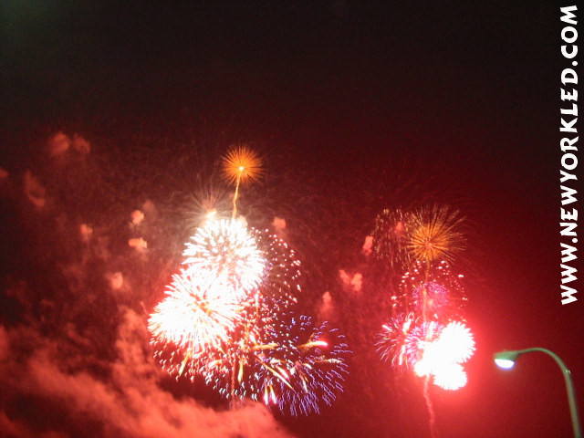 Great red fireworks displays