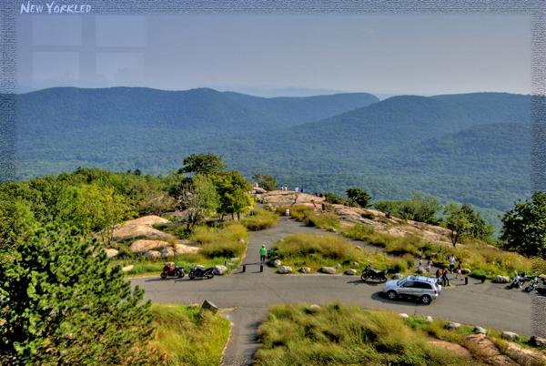 View of the area atop Bear Mountain as shot from the lookout tower.