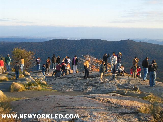 The folks shown in this photo made up only a small fraction of the many that were there to enjoy Bear Mountain in all its Autumnal Splendor!