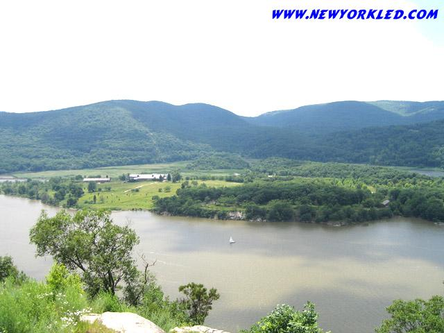 The Hudson River is captured in this photo taken from the lookout found along route 202.