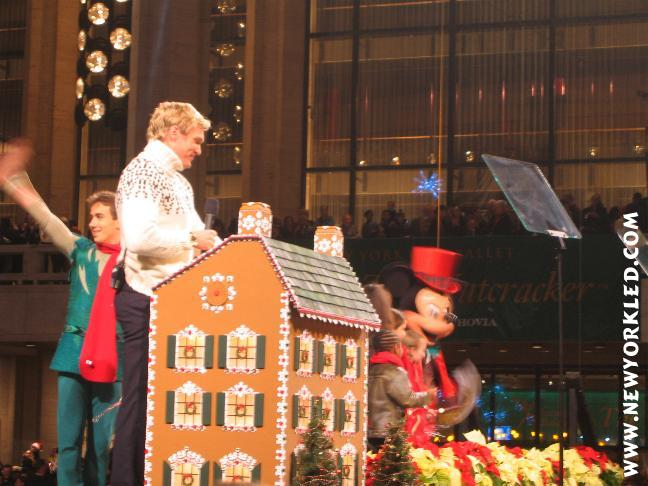 At Winter's Eve was Sam Champion, Mickey Mouse and others.