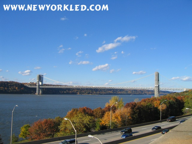 Full length photo here is of the GWB as it spans across the Hudson River from NYC to New Jersey.