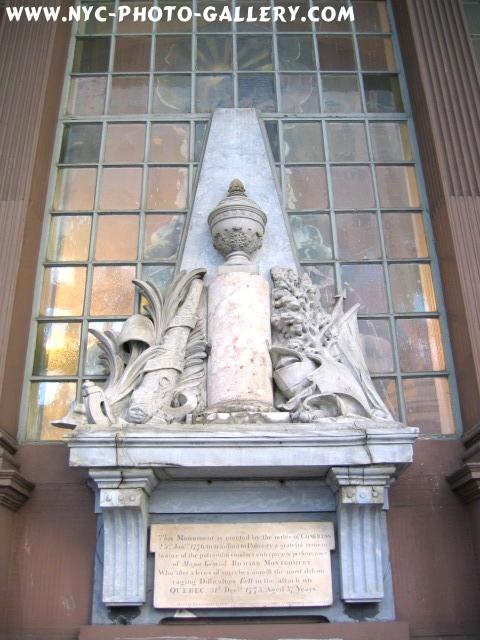 Photo here is of the Monument which hangs just outside St. Paul's Chapel.