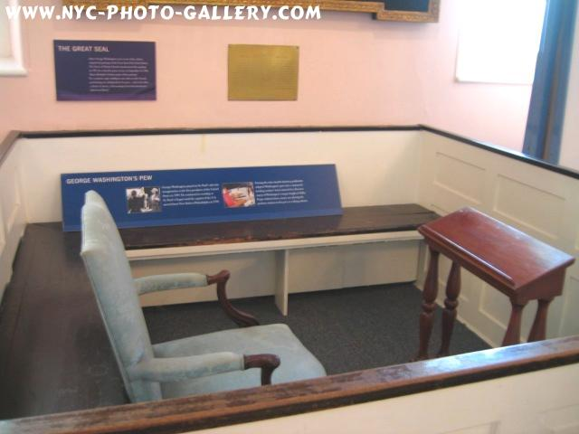 Photo feature of George Washington's Pew.