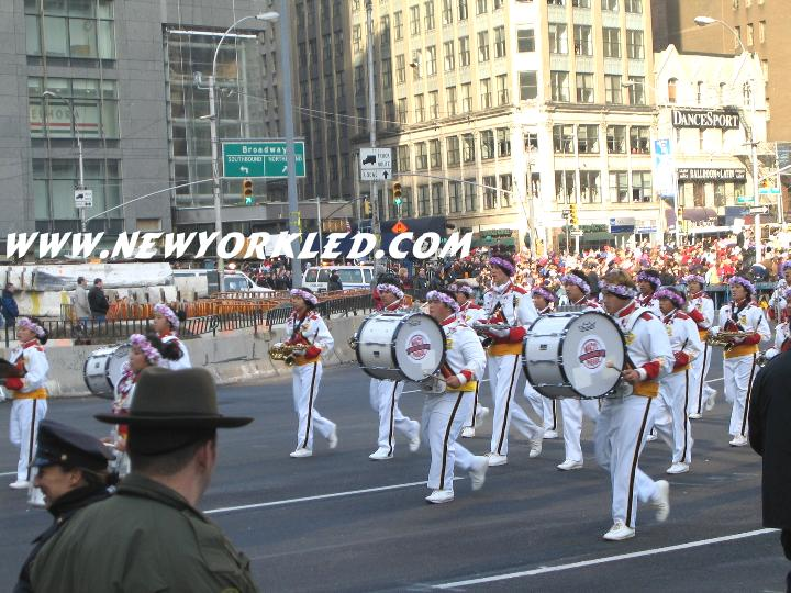 One of the many marching bands at the parade, 2003 ---- This one was from Hawaii