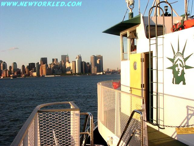 Just one of many photos taken on the twilight cruise through New York Harbor.