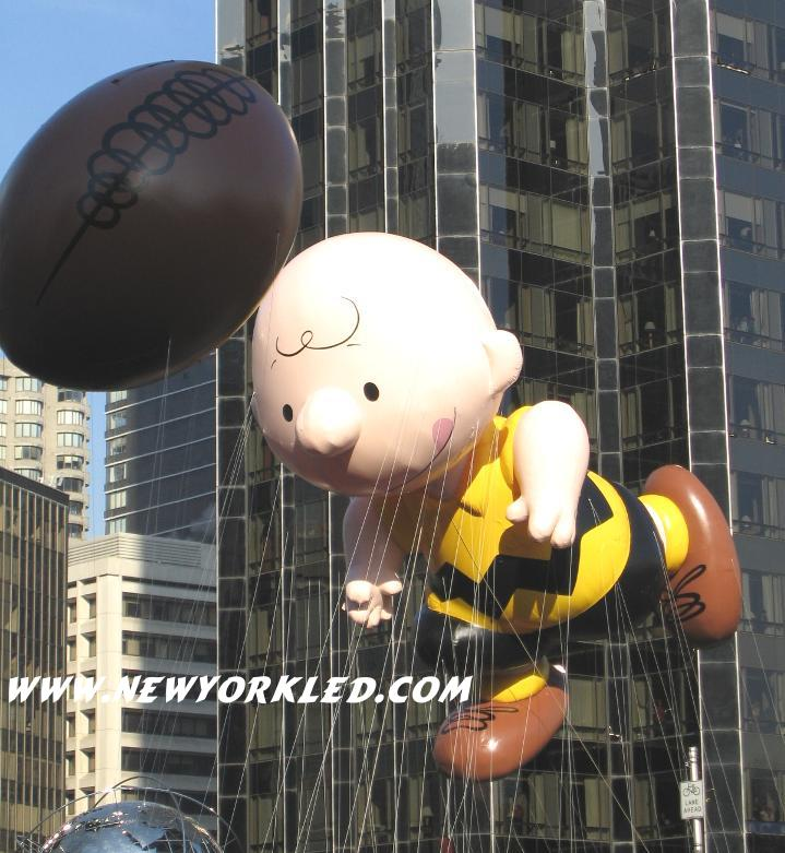 Photo taken at the NYC Macy's Thanksgiving Day Parade - Pictured is Charlie Brown