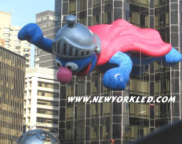 Photo taken at the NYC Macy's Thanksgiving Day Parade - Pictured is Super Grover
